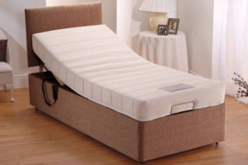 ADJUSTABLE ELECTRIC BED CHENILLE WITH 8″ MEMORY FOAM MATTRESS