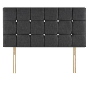 CHENILLE CUBES HEADBOARD WITH DIAMOND ON