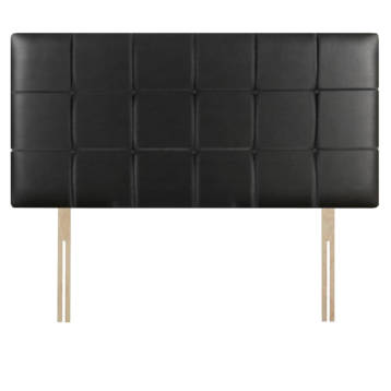 LEATHER CUBES HEADBOARD WITH BUTTONS ON