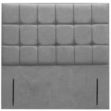 CHENILLE FLOOR STAND CUBED HEADBOARD