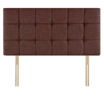 CHENILLE CUBES HEADBOARD WITH BUTTON