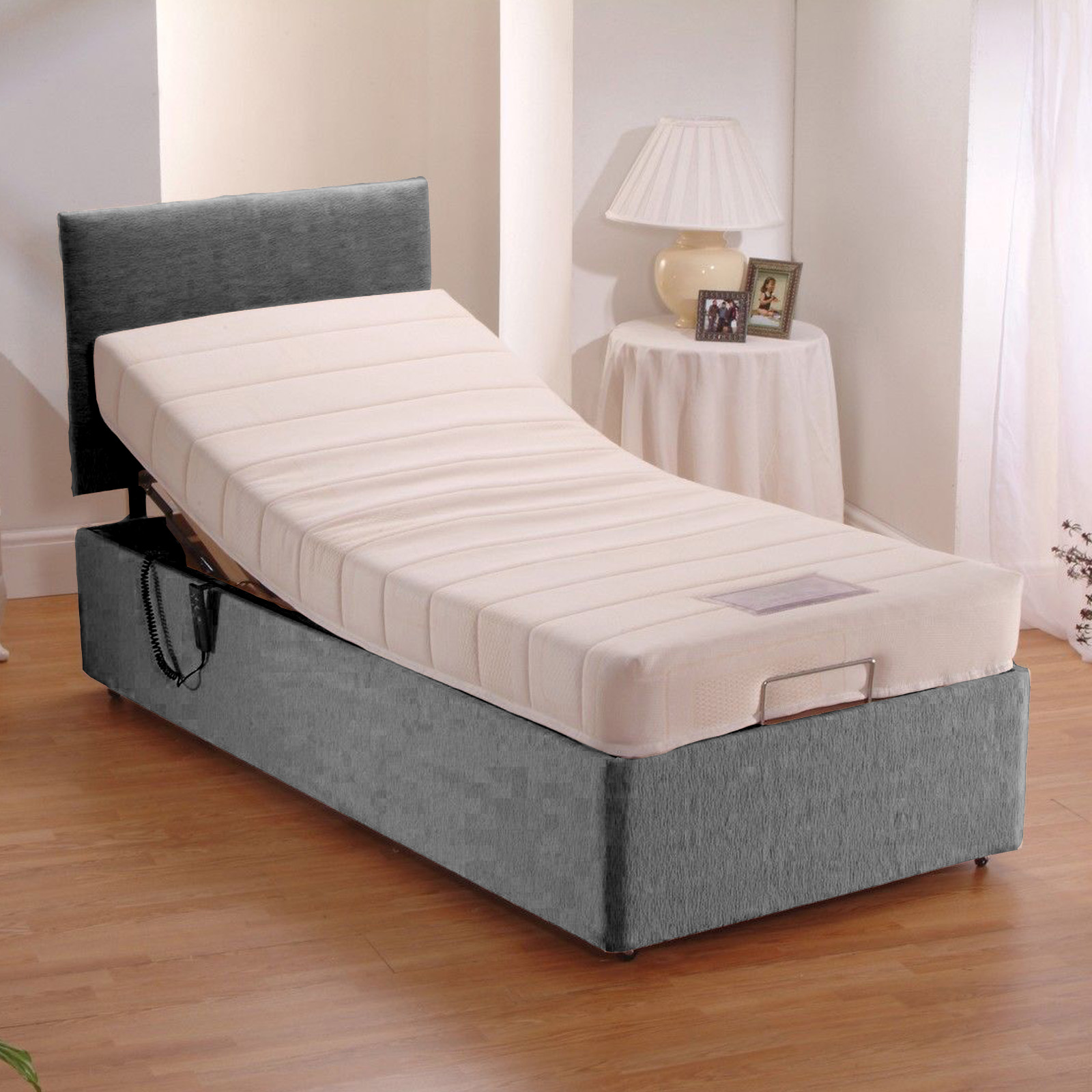 Adjustable Electric Bed Chenille With 8 Quot Memory Foam