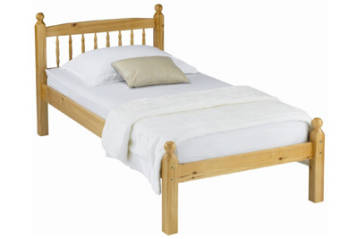 HONEY STAIN PINE SPINDLE FINISH SOLID STYLE BED