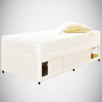 ROME TUFTED SINGLE SLIDE STORAGE DIVAN SET