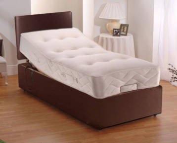 ELECTRIC LEATHER ADJUSTABLE BEDS POCKET SPRUNG MATTRESS + HEADBOARD