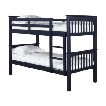 ANTIQUE WAX PINE SOLID NAVY 3′ SINGLE BUNK BED