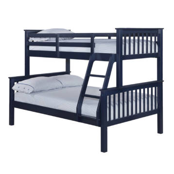 TRIPLE SLEEPER HIGH QUALITY NAVY BUNK BED