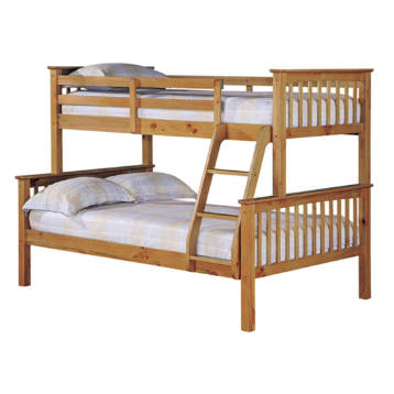 TRIPLE SLEEPER HIGH QUALITY WAX ANTIQUE BUNK BED