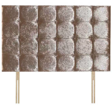CRUSHED VELVET 32″ CUBES HEADBOARD