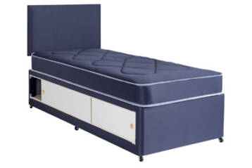2FT6 OR 3FT KIDS SLIDE STORAGE DIVAN SET IN BLUE