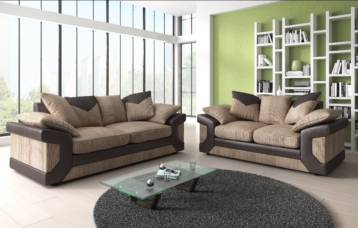 DINO 3+2 SOFA BROWN/BEIGE