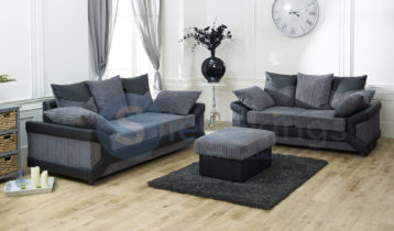 DINO 3+2 SOFA BLACK/GREY