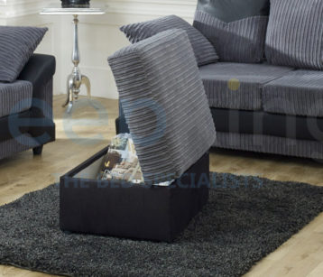 DINO STORAGE FOOTSTOOL BLACK/GREY
