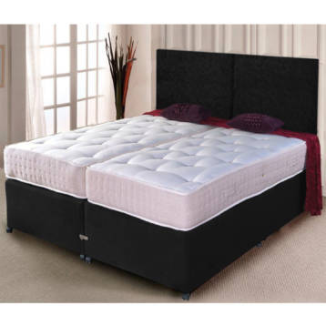 ZIP AND LINK DIVAN SET ORTHOPEDIC SPRUNG MATTRESS WITH HEADBOARD