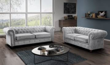 HABLO CHESTERFIELD 3+2 SILVER