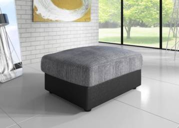 DINO SOFA FOOTSTOOL BLACK/GREY