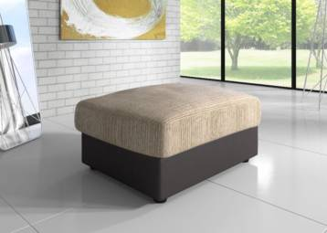LOGAN FOOTSTOOL BEIGE/BROWN