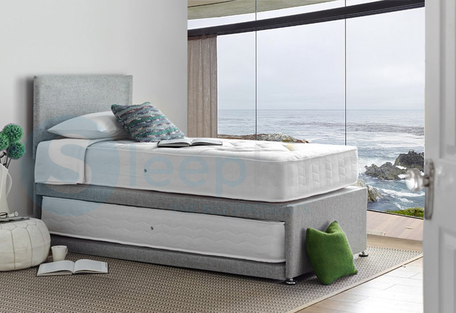 Deluxe Orthopedic Sleep Guest 3ft Single Trundle Beds