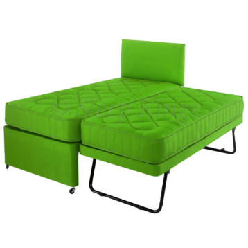 GUEST TRUNDLE BED 3 IN 1 WITH MATTRESSES HEADBOARD LIME