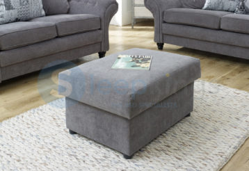 BELLA STORAGE FOOTSTOOL GREY