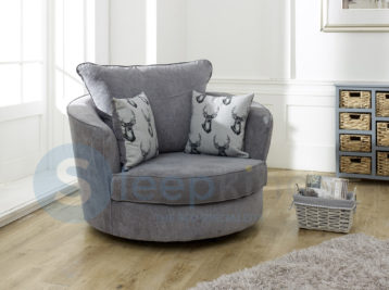 VERONA SWIVEL CHAIR GREY