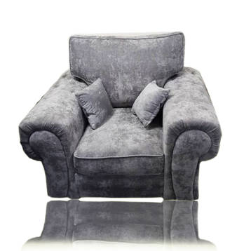 VEGAS CHESTERFIELD STYLE ARM CHAIR IN GREY