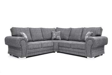 WILLCOT CORNER SOFA GREY LISBON FABRIC