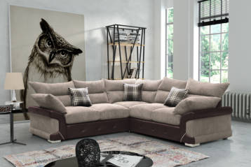LOGAN CORNER SOFA BEIGE/BROWN