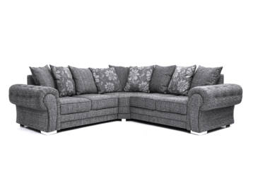 HUGO CORNER SOFA GREY LISBON FABRIC