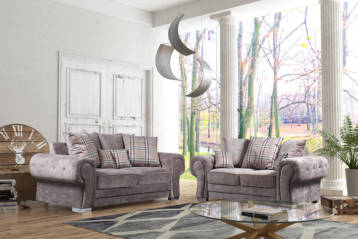 VERONA 3+2 SOFAS SET IN MINK KENSINGTON FABRIC