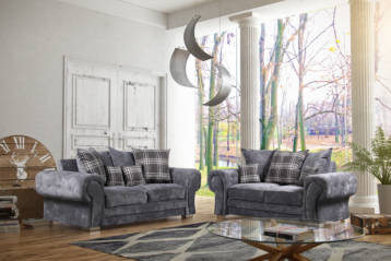 VERONA 3+2 SOFAS SET IN GREY KENSINGTON FABRIC