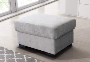 NICOLE CHESTERFIELD FOOTSTOOL GREY