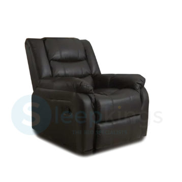RECLINER LEATHER ARMCHAIR BLACK