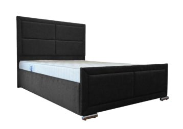 CHENILLE CHELSEA 4FT6 DOUBLE BED IN BLACK