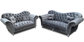 ITALIAN CHESTERFIELD ELEGANCE SOFA SET 3+2