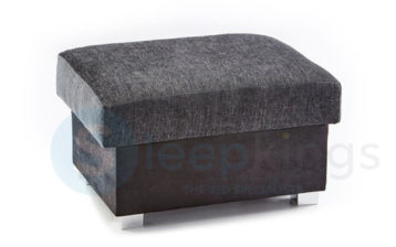 SHANNON STORAGE FOOTSTOOL BLACK/GREY