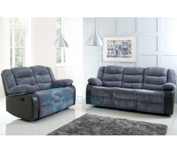 RIO RECLINER 3+2 SET GREY