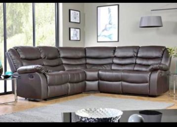 ROMA RECLINER DOUBLE CORNER BROWN