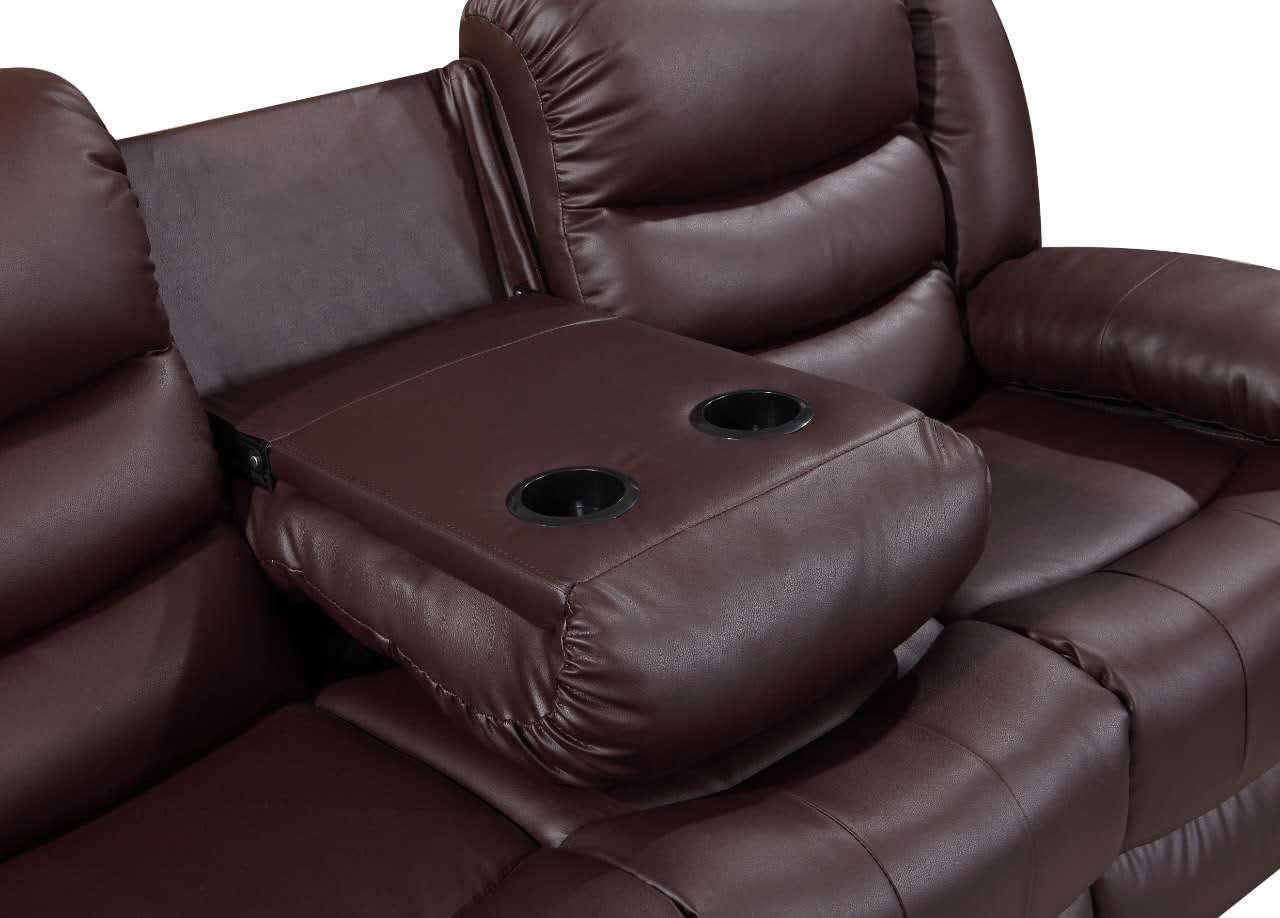 Picture of: Roma Recliner Double Corner Brown Sleep Kings