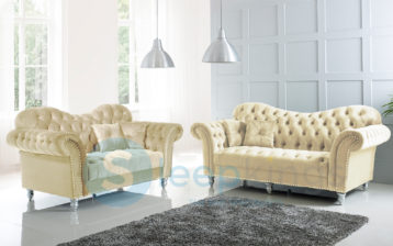 ITALIAN CHESTERFIELD ELEGANCE 3+2 SET BEIGE