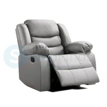 RECLINER LEATHER ARMCHAIR GREY
