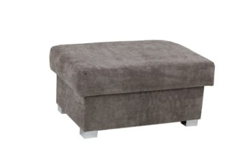 VEGAS STORAGE FOOTSTOOL GREY