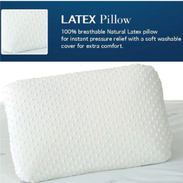 LATEX BREATHABLE NATURAL PILLOWS PAIR