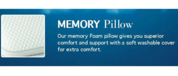 MEMORY FOAM PILLOWS PAIR